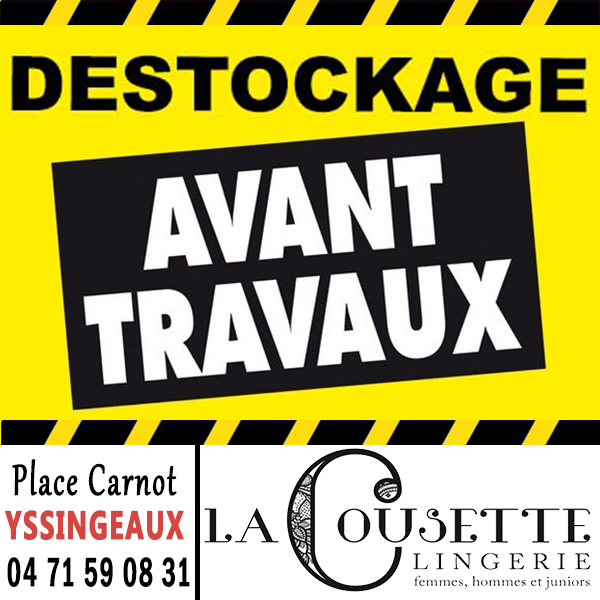 Cousette destockage 2018