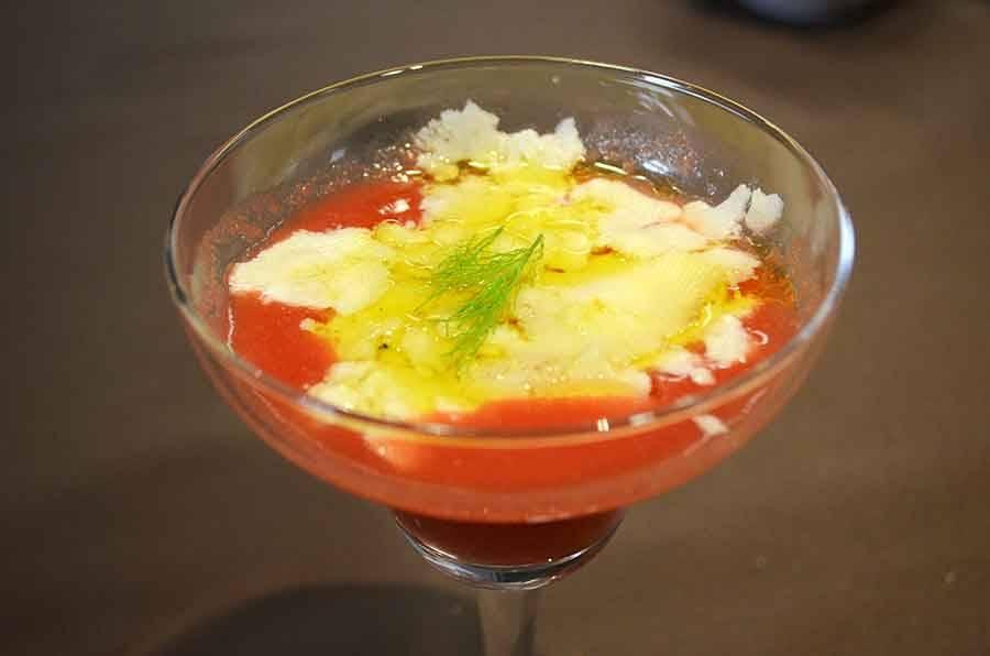 La recette du chef : gaspacho de tomates et poivrons turcs