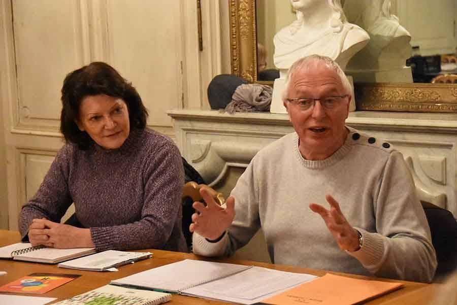 Evelyne Bayet et André Perrier.