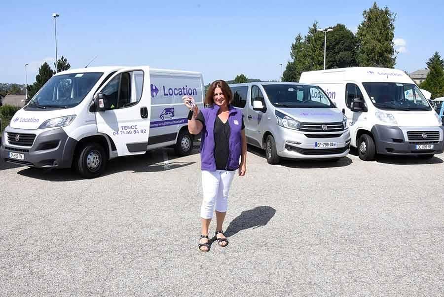 Tence : Carrefour Market développe son parc de véhicules de location