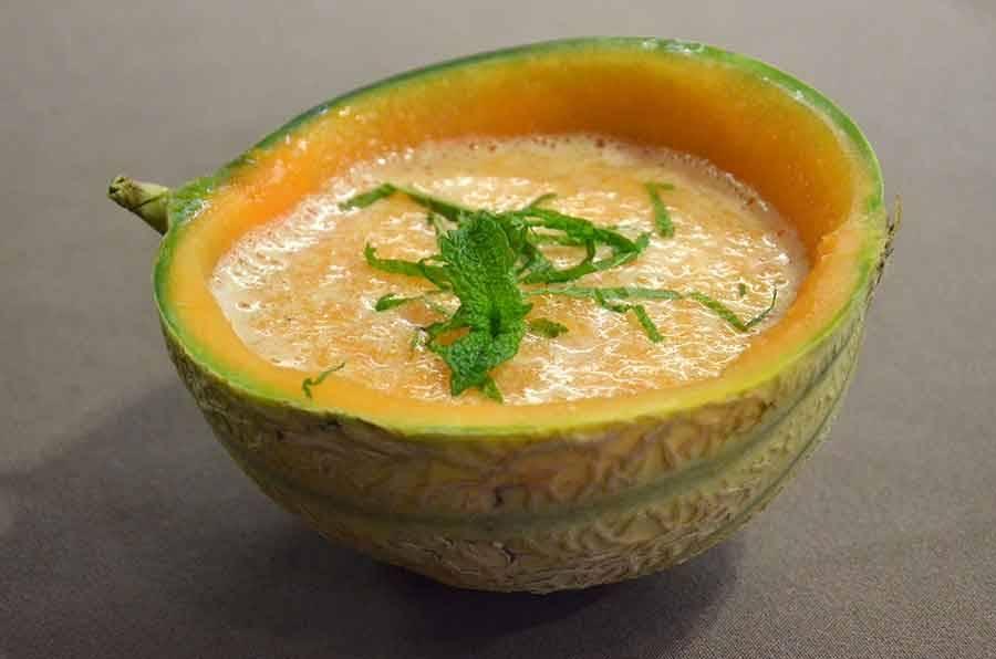 La recette du chef : gaspacho de melon et pastis