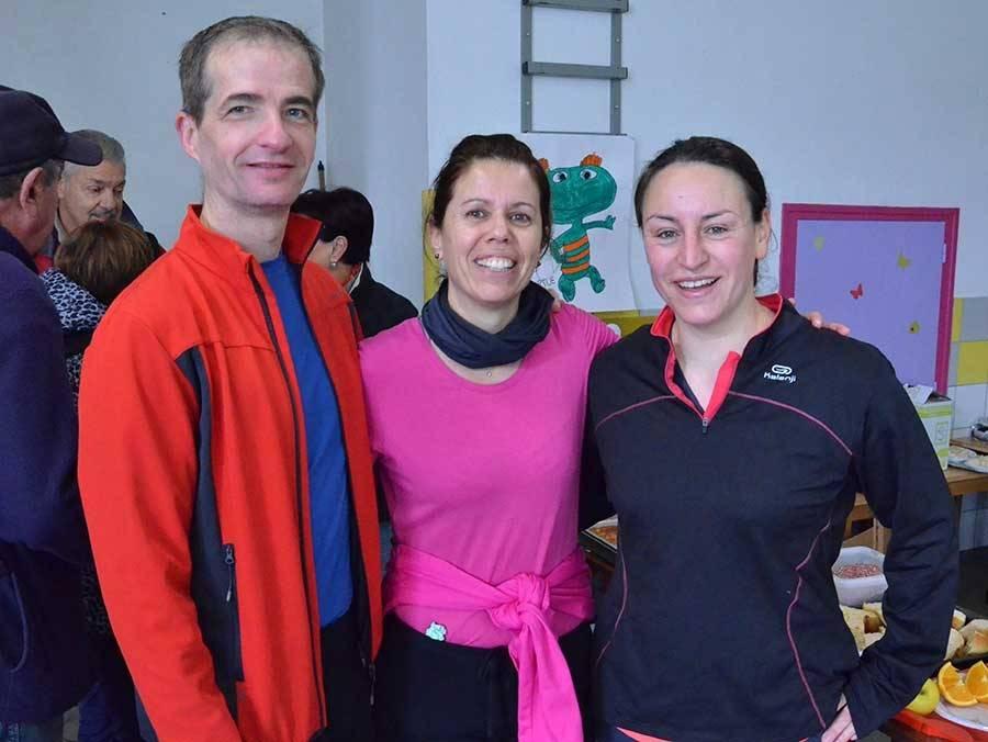 Jacky et Florence de La Chapelle-d'Aurec, et Déborah d'Aurec-sur-Loire, sont venus faire le jogging de 7 km à Saint-Maurice.
