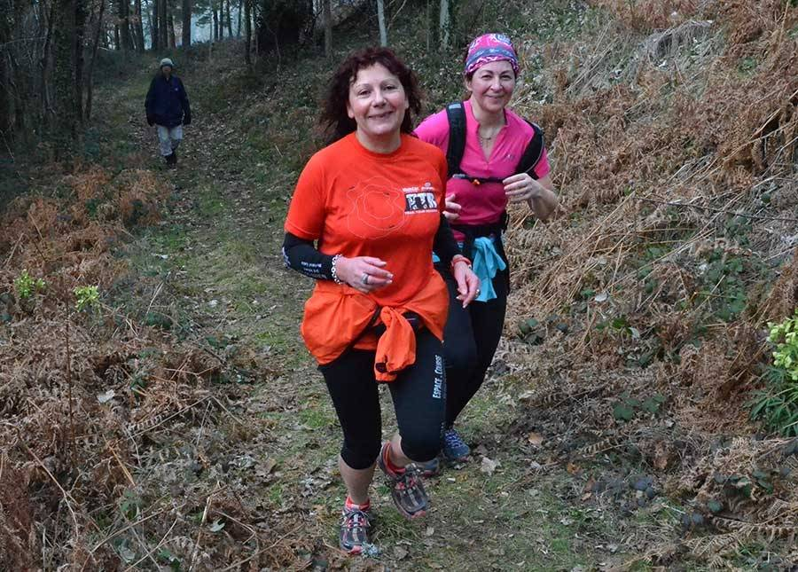 Hélène et Patricia, bénévoles sur le Défi vellave, sont venues apprécier la marche-trail de Saint-Maurice-de-Lignon.