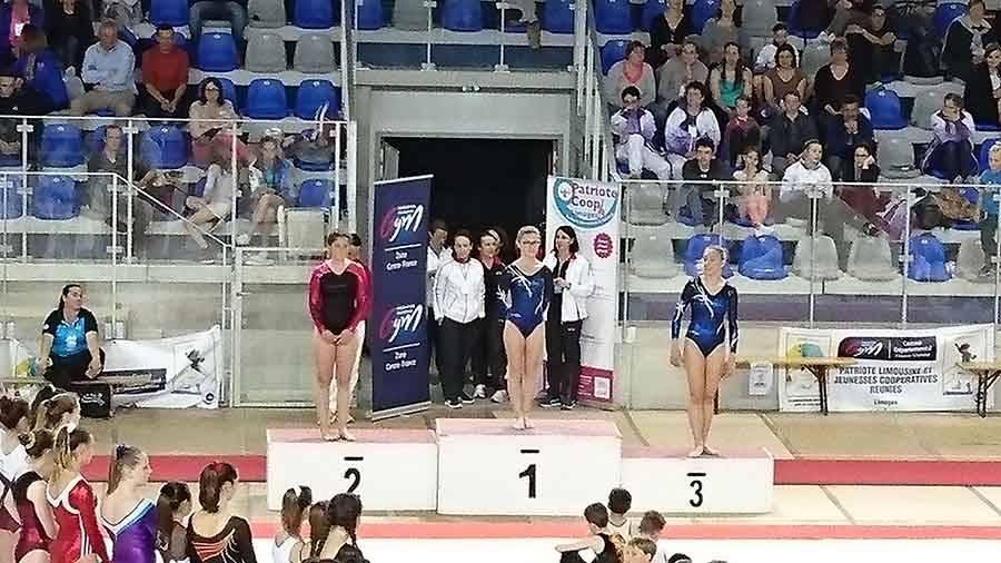 Gymnastique : trois médailles d'or et une d'argent pour Yssingeaux en zone Centre France