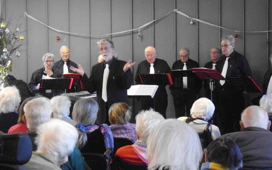 Un concert d'A Choeur égal pour les résidents de la Sérigoule à Tence
