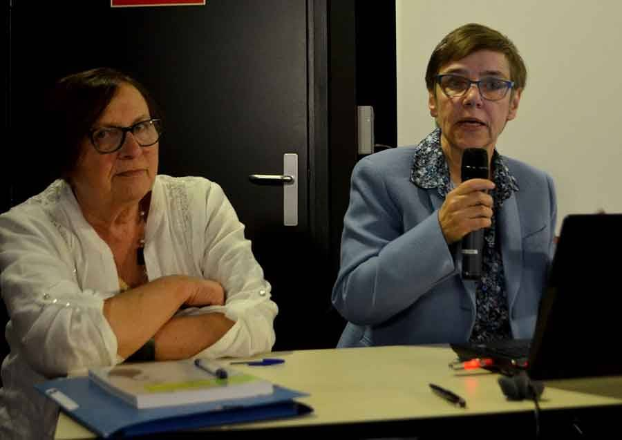 Raymonde Prat et Martine Fauconnier-Chabalier.
