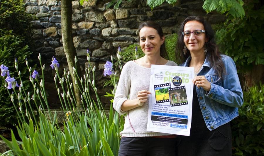 Gaëlle Tardy, élue en charge de la communication et Isabelle Molina, responsable des inscriptions pour le concours photos.