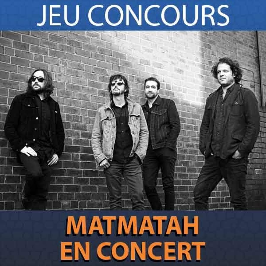 Tentez votre chance pour gagner une place pour le concert de Matmatah à Saugues