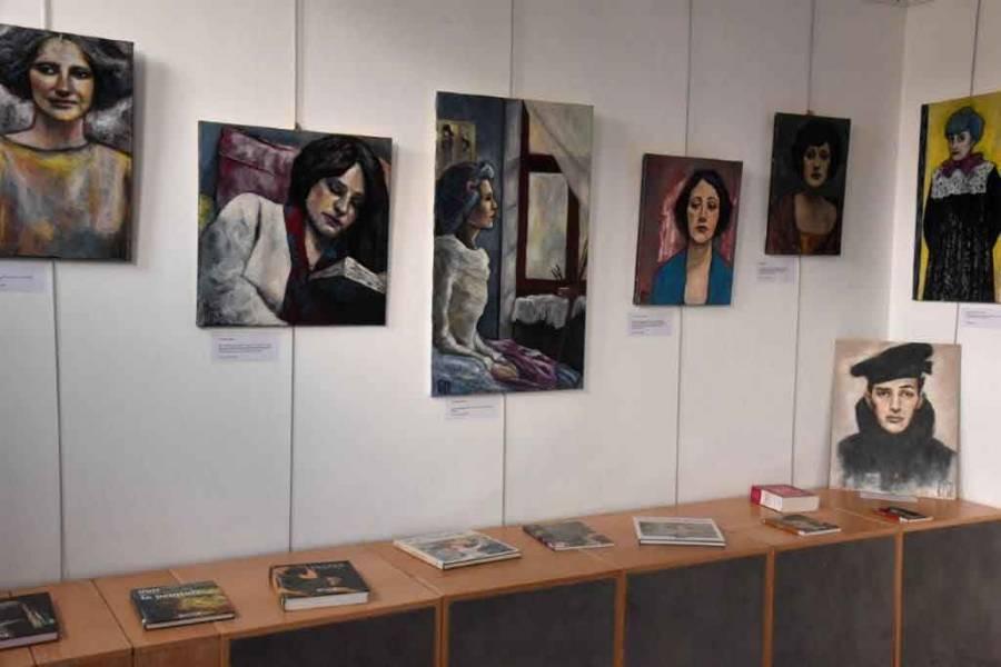 Une kyrielle de portraits à découvrir à la médiathèque de Monistrol