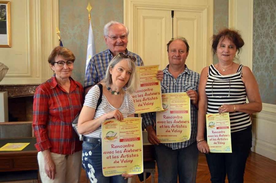 La première rencontre avec les auteurs et les artistes au Puy ce week-end