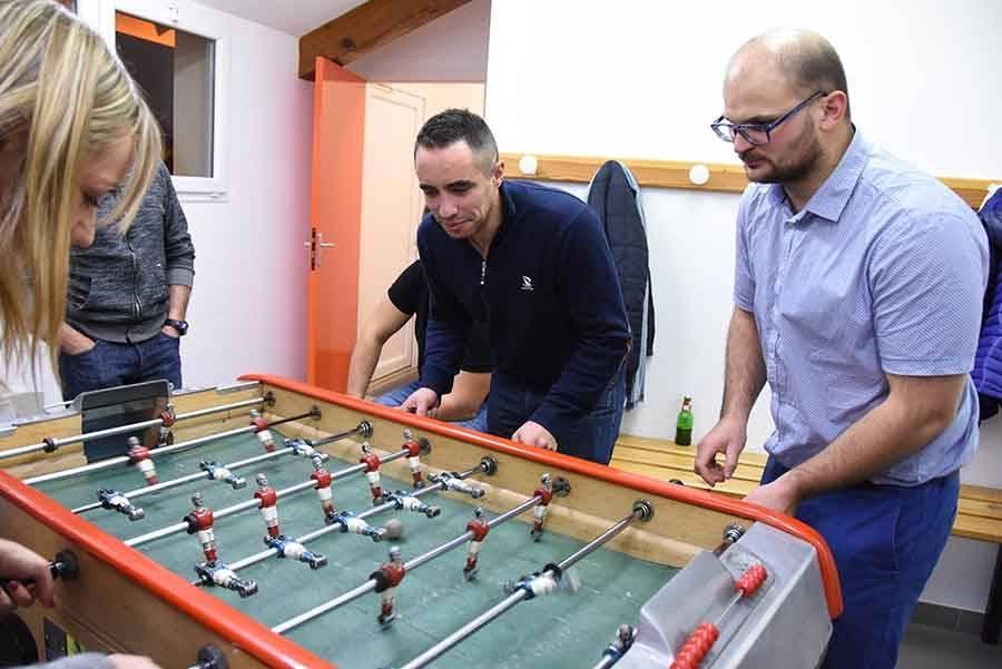 Saint-Jeures : un tournoi de baby-foot... dans les vestiaires du foot