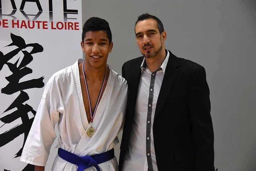 Paul Joussouys, de Brioude, champion en junior -61 kg.