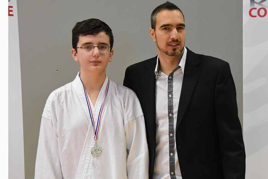 Anthony Di Caro, de Monistrol, champion en cadet -70 kg.
