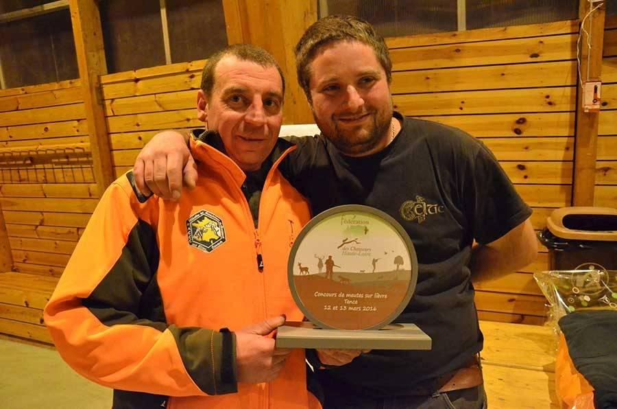 Romain Bonnevialle et Didier André vainqueurs du concours de chasse