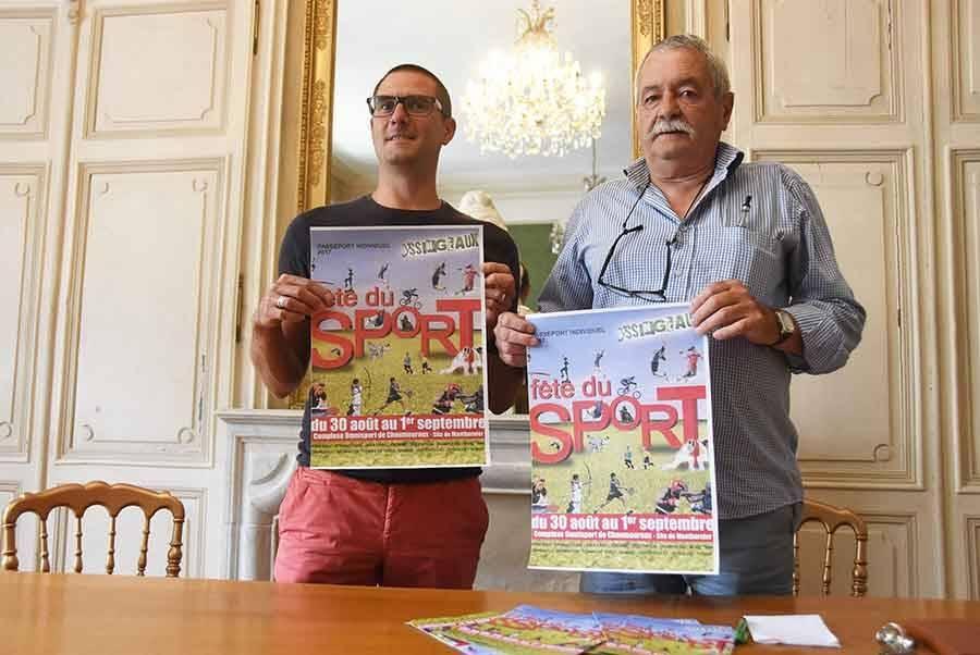 Florian Vaillant et Alain Hucher présentent l'édition 2017 de la Fête du sport.