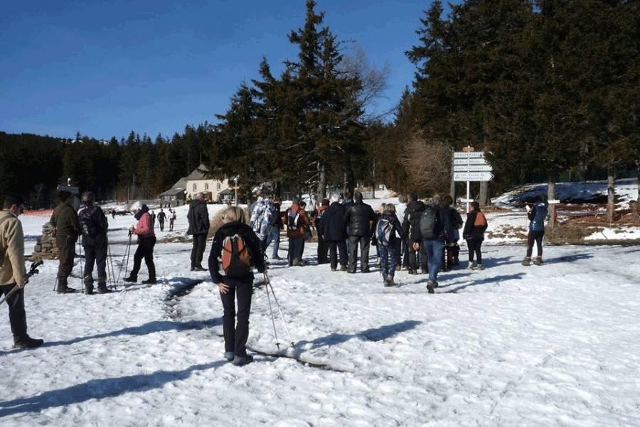 La Draille Blanche, une randonnée raquette magique à Saint-Front dimanche