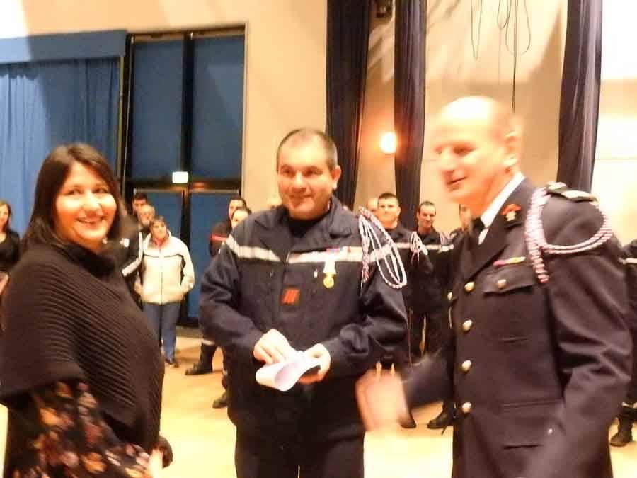Le caporal-chef Thierry Mazabrard a reçu la médaille de vermeil.
