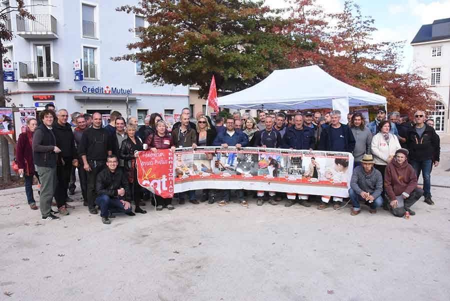 Une centaine de fonctionnaires se retrouvent à Yssingeaux pour défendre leurs droits
