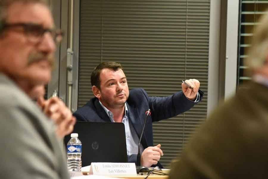 Luc Jamon, premier vice-président chargé des finances. Photo Lucien Soyere.