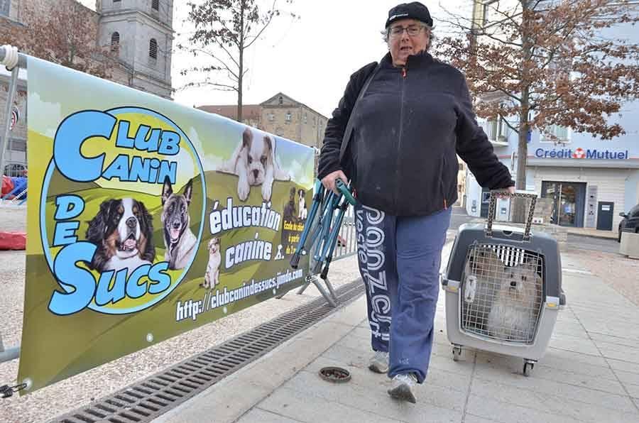 Le club canin des sucs a proposé une cani-rando et des démonstrations d'agility.
