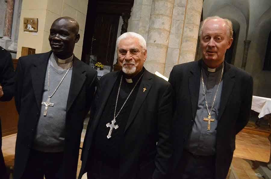 Mgr Yaouda, Mgr Moshé et Mgr Crepy.