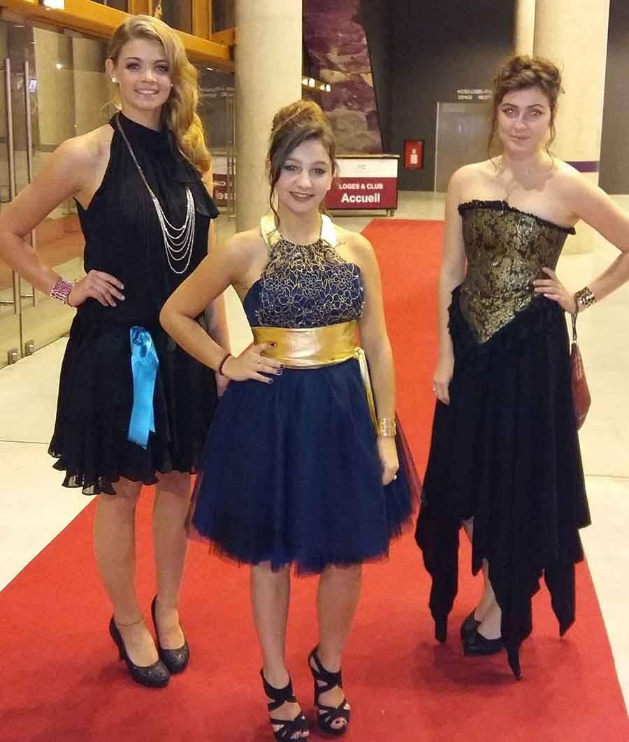 Miss Saint-Agrève et ses dauphines ont assisté à l'élection de Miss France