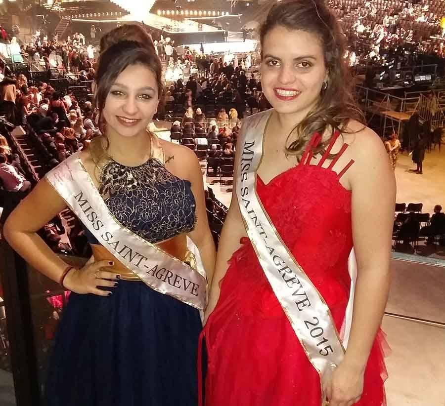 Madison Sirvent miss Saint-Agrève 2016 et Charlotte Paya miss 2015.