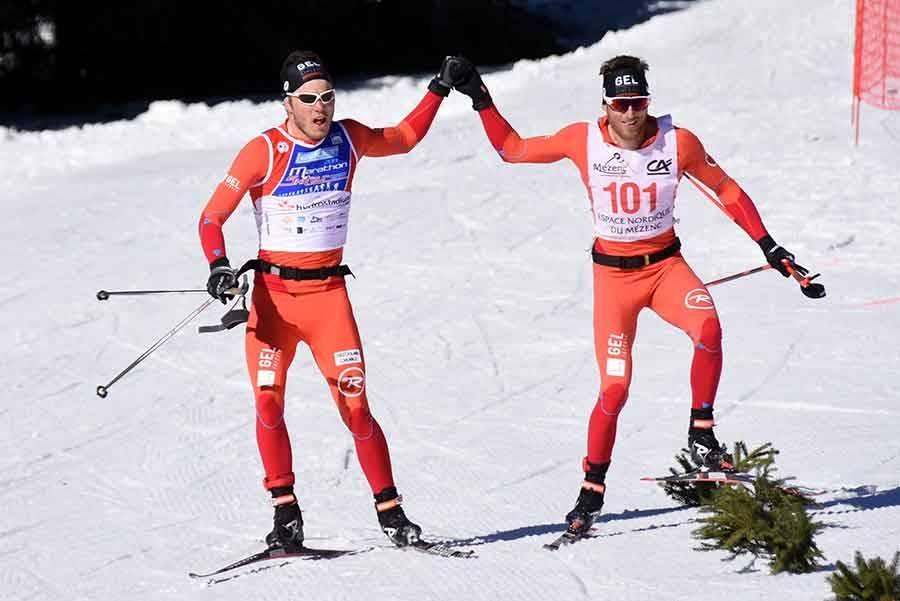 Ski nordique : Thomas Chambellant et Clément Mailler, un travail d'équipe sur le Marathon du Mézenc