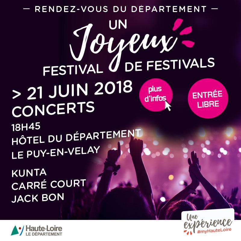 Département Fête musique 2018