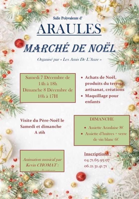 Araules marché Noël 2019