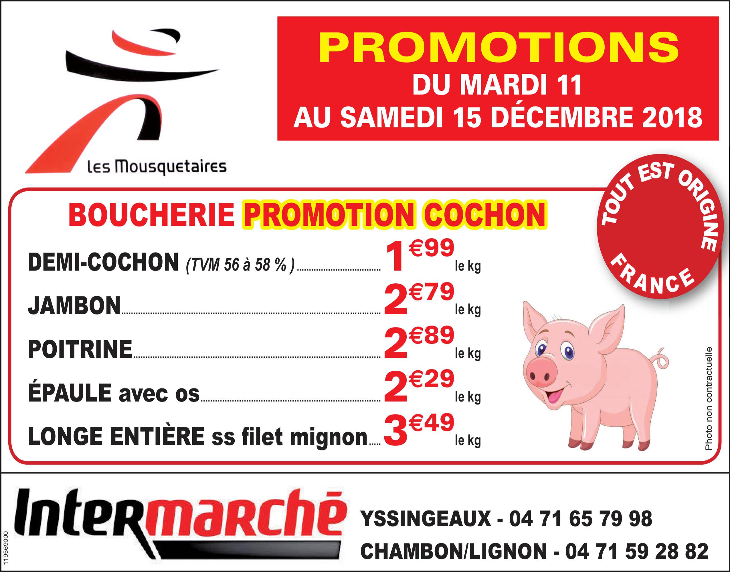 Chambon Intermarché porc décembre 2018