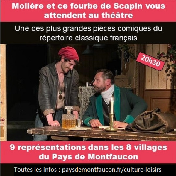 Pays Montfaucon Fourberies Scapin juillet 2021