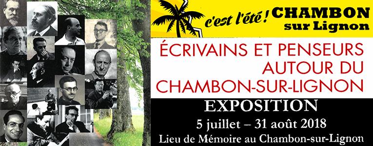 Chambon été 2018 expo Lieu mémoire