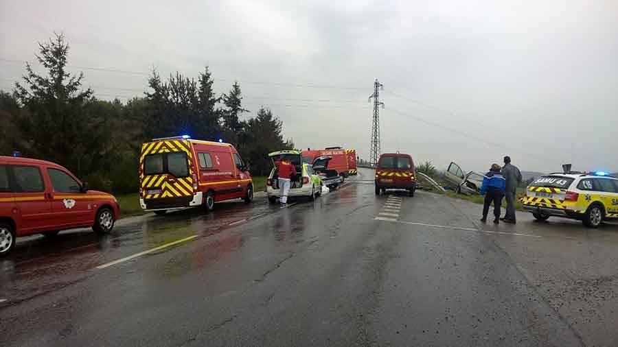 Grave accident entre Monistrol-sur-Loire et Sainte-Sigolène : la route fermée