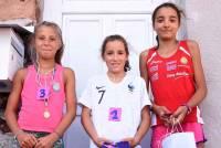 Le podium filles du 1 200 m
