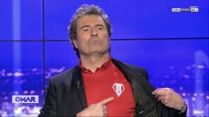 Insolite : le maillot de foot de Monistrol porté dans une émission de Bein Sports