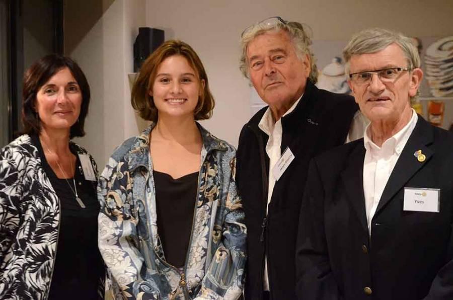Aria et son beau sourire chaleureusement accueillie mardi soir par les Rotariens réunis à Montfaucon-en-Velay