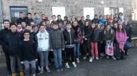 Les collégiens sont allés à Saint-Etienne lundi.