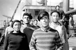 Peter Lorre, Helmut Dantine, Humphrey Bogart et George Tobias