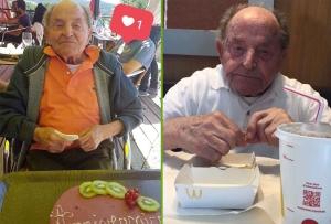 Champclause : pour ses 102 ans, Charles Guimard s'offre un fast-food avec ses arrière-petites-filles