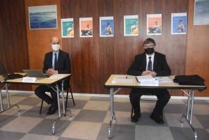 Xavier Deny, le nouveau directeur départemental des finances publiques de la Haute-Loire, et Patrick Montchamp, responsable du service des impôts des particuliers d'Yssingeaux