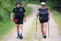 Alain Cortial et Evelyne Thomasson, de Saint-Pierre-Eynac, sont sur l'itinéraire Nord.
