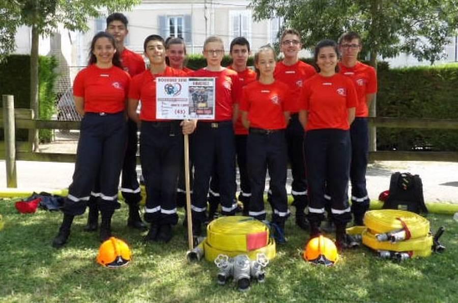 Dunières : une équipe de jeunes sapeurs-pompiers au concours national