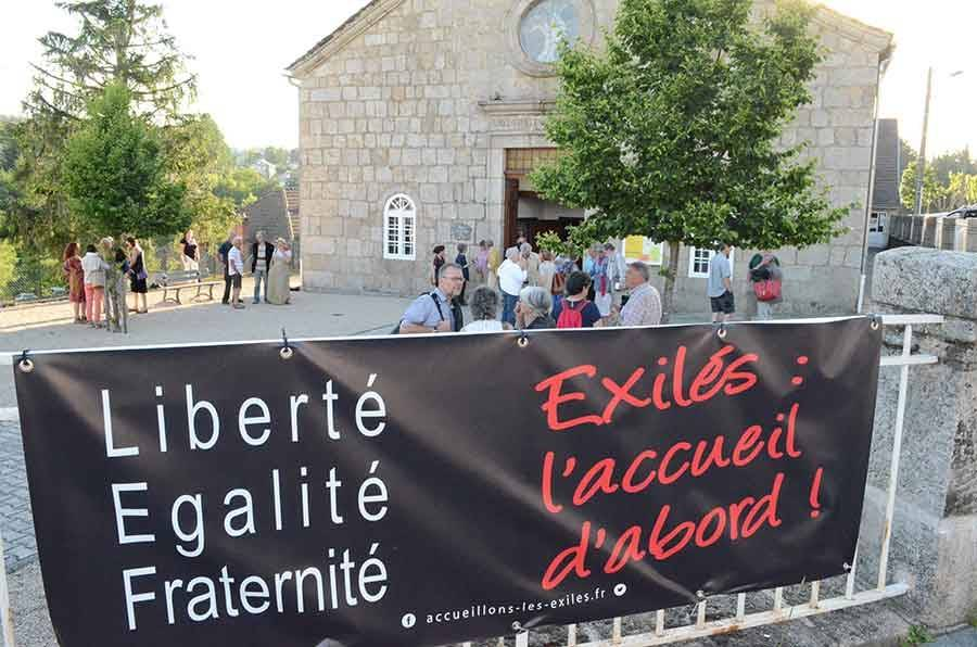 Au Chambon-sur-Lignon, comme ailleurs, la communauté protestante appelle à l'accueil des exilés.