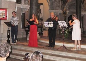 Le deuxième concert des Promenades musicales de Lalouvesc et du Val d'Ay enthousiasmant