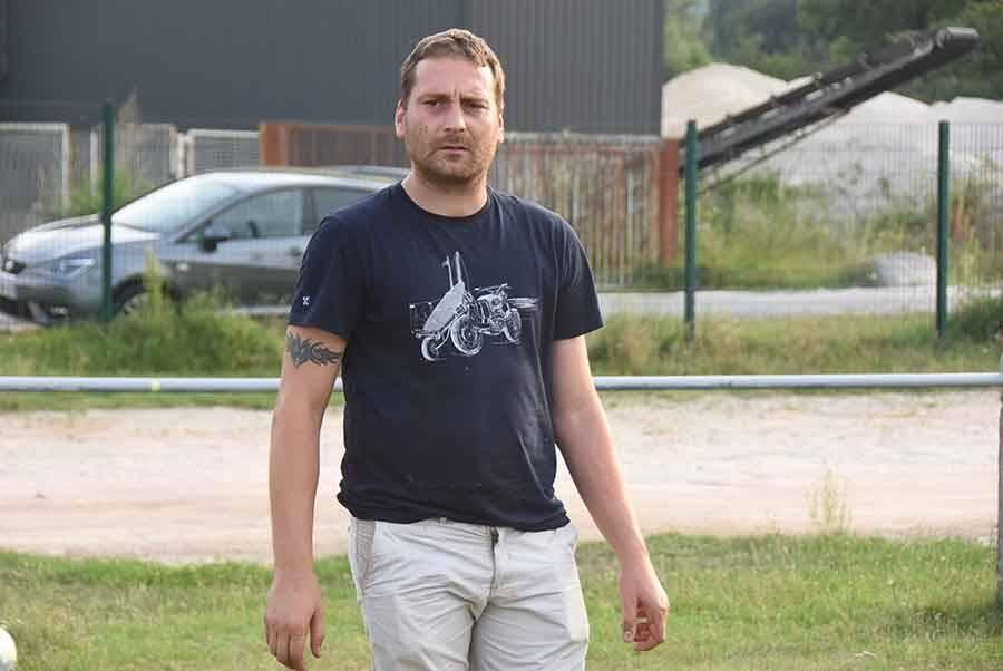 Loïc Clavaron, entraîneur de l'US Bassoise