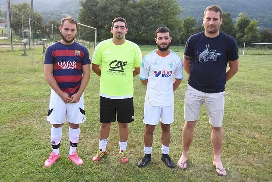 Emerick Cheucle, Benjamin Seichi, Johan Da Costa et Loïc Clavaron