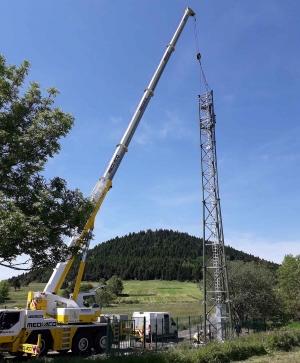 Un pylône de téléphonie mobile levé à Queyrières