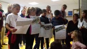 Montfaucon-en-Velay : les enfants de l'école publique aussi aux 10 ans de la bibliothèque