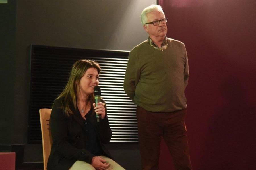 Marie Bufferne et Bernard Bout, président du comité régional Rhône-Alpes-Auvergne de tourisme équestre. Photo Lucien Soyère